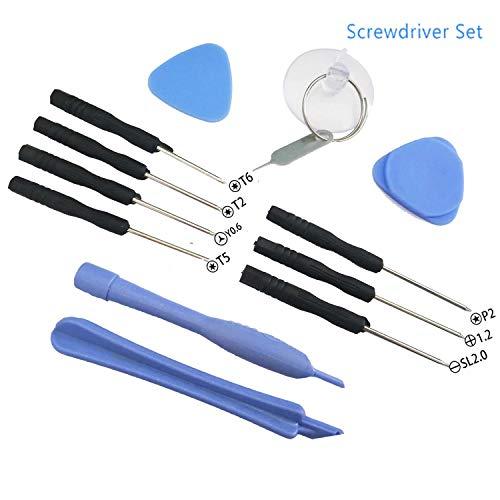 Solike Set of 12 Torx Screwdriver Set Mini Precision Screwdriver Set with Tri-wing Y06 P20 12 SL20- Torx T2 T5 T6 Pentalobe 08 12 fits for iPhone 7 6 6S 5 4 Samsung Smartphone Laptop Repair