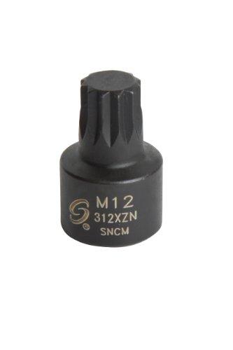 Sunex 312XZN 38-Inch Drive M12 Stubby Triple Square Impact Socket