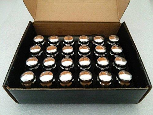 AccuWheel LNS-12150C6 Small Diameter Acorn Spline Drive Chrome Lug Nuts with Key 12mm x 15 Thread Size - Pack of 24 Lugnuts