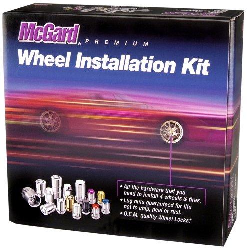 McGard 65515BK ChromeBlack Spline Drive 5 Lug Wheel Installation Kit
