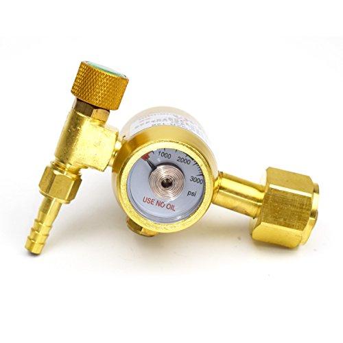 Brass Argon Regulator Gas Pressure Gauge G58-14 Inner Thread M121 Hose Nut Screw Outlete For TIG Welder Welding Machine