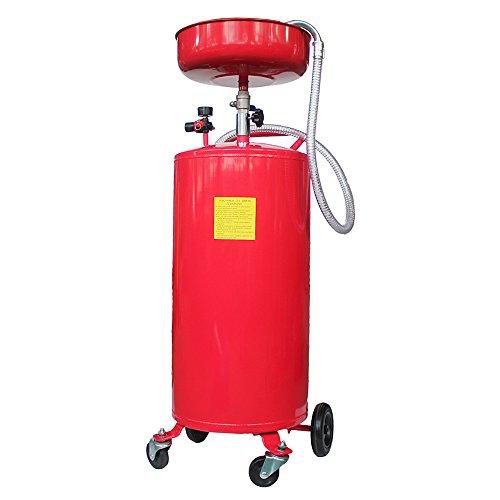 20 Gallon Portable Waste Oil Drain Tank Air Operated Fluid Fuel Transfer Tank Rotary Pump