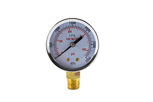 High Pressure Gauge for Propane Regulator 0-400 psi - 2 inches