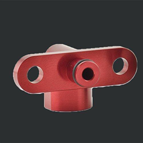 Boomba Fuel Pressure Regulator Adapter Right Angle Red for Mitsubishi Evo X 10
