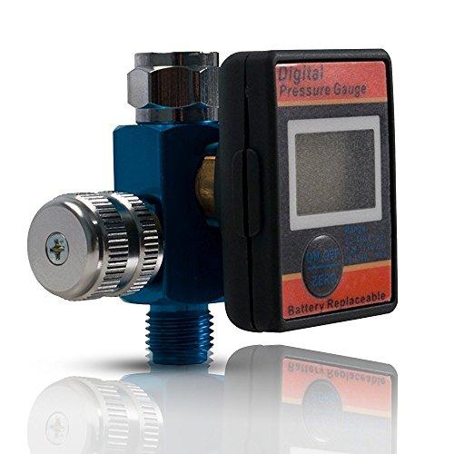 Air Flow Regulator with Digital Pressure Gauge Air Adjusting Valve 14 inch Universal Thread Male Inlet Fitting Air CompressorLine Accessories by Lematec