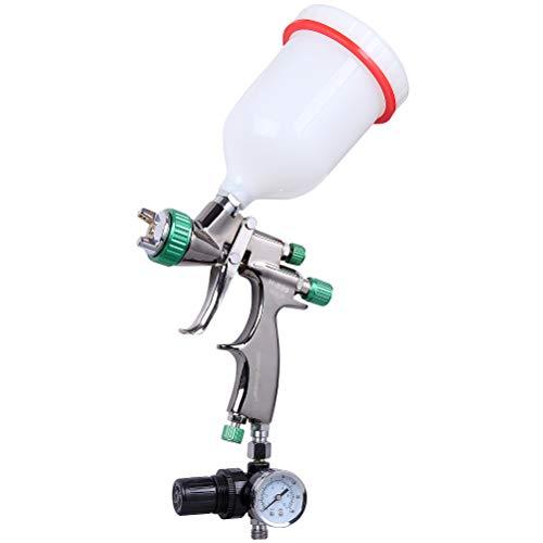 CARTMAN HVLP Gravity Feed Air Spray Gun 202 oz Capacity 30-40 CFM Cubic feet per Minute Optimal Working Pressure 2bar29psi Nozzle Size13mm with Air Regulator