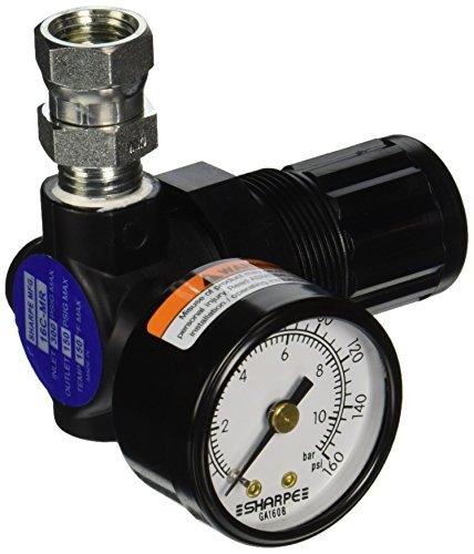 Sharpe Manufacturing SHA1410 16C-MR Mini Air Regulator with Gauge