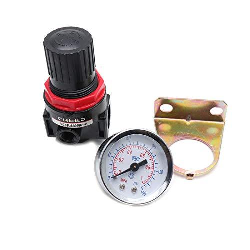 Sydien G14 Adjustable Pneumatic Air Pressure Regulator AR2000 with Pressure Gauge Bracket for Compressed Air Systems