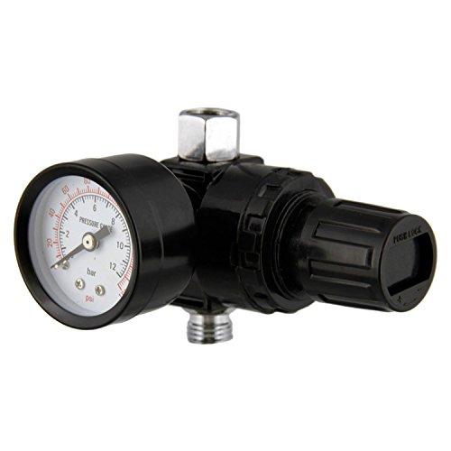 TCP Global Spray Gun AIR Regulator w-Gauge-Auto Car Paint-Hvlp 14 NPT
