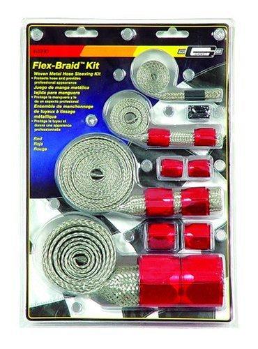 Mr Gasket 8090 Red Flex-Braided Hose Sleeve Kit