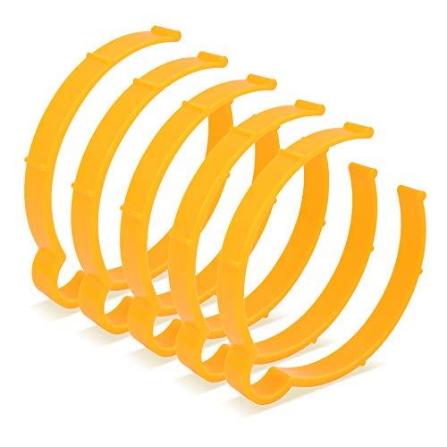 Ehdis 4311cm Vinyl Wrap Sheet Clip Storage Tool for Car Wrap Vinyl Sticker Decal Film Sheet Coil Hoop Ring Helpful Tool for Auto Film Roll Sheet - 5 PCS