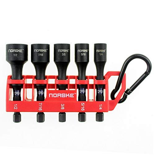 Norske Tools NIBPI650 5Piece Nutsetter Bit Clip
