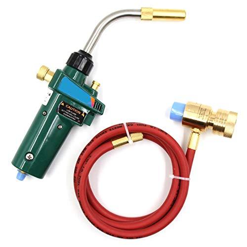 Vaorwne Mapp Gas Brazing Torch Self Ignition Trigger 15M Hose Propane Welding Heating Bbq Hvac Plumbing Jewelry Cga600 Burner