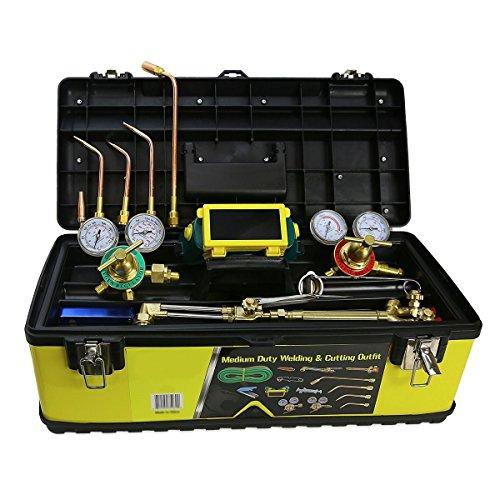 Industrial Oxygen Acetylene Regulator Welders Victor Style Duty Torch Toolbox