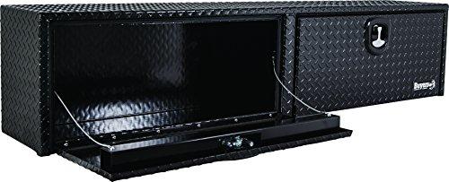 Buyers Products Black Diamond Tread Aluminum Topsider Truck Box wT-Handle Latch 16x13x72 Inch