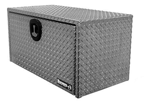 Buyers Products Diamond Tread Aluminum Underbody Truck Box w 3-Point Latch 18x18x36 Inch