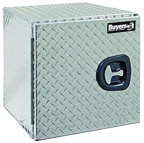 Buyers Products Diamond Tread Aluminum Underbody Truck Box wBarn Door 18x18x18 Inch