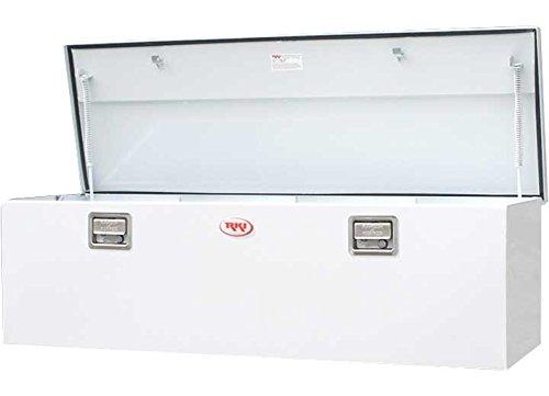RKI M60-1NM White Steel Single-Lid Chest Style Truck Box