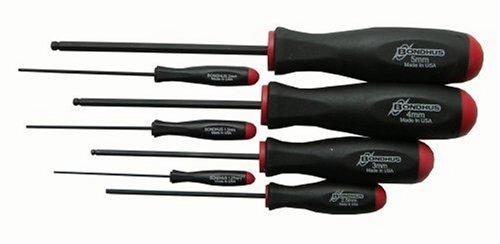 Bondhus 10687 Set of 7 Balldriver Screwdrivers ProGuard Finish sizes 127-5mm