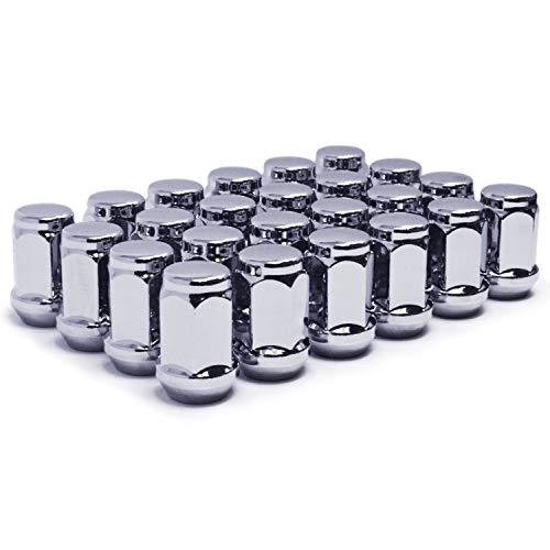 Mastiff 13754 Acorn Bulge After-Market Lug Nut Set - 12-20 Thread Triple-Chrome Finish 34 Hex 60 Degree Conical Seat Pack of 24