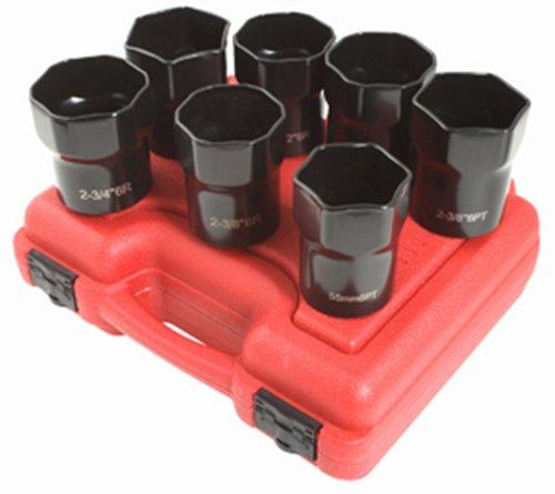 Sunex 2847 12-Inch Drive Wheel Bearing Lock Nut Set 7 Piece
