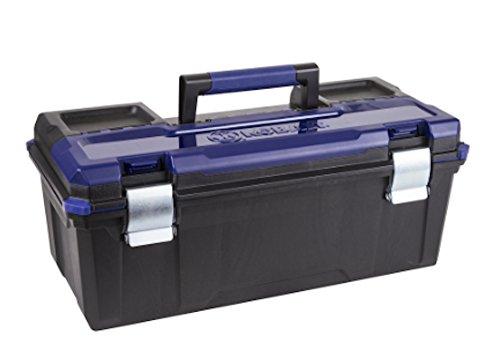 Kobalt Zerust 26-in Black Plastic Lockable Tool Box