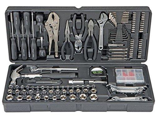 Mascarello130 pc Tool KIT SET Case DIY Auto Home Repair Kit SAE Metric Tool Set Warranty