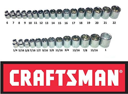 Craftsman 30 Piece 38 Drive 6 Point Socket Set