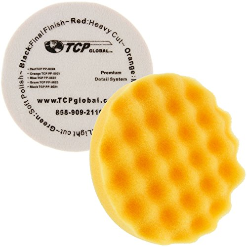 8 Orange Waffle Foam Buff Grip Pad Coarse Cutting Polish - Standard Grade Cutting Pad