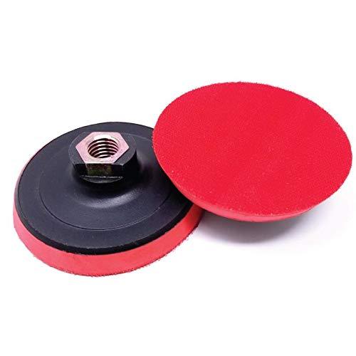 Stadea FBP101A Hook and Loop Backing Pad - 4 Foam Polishing Sanding Discs Backup Pad