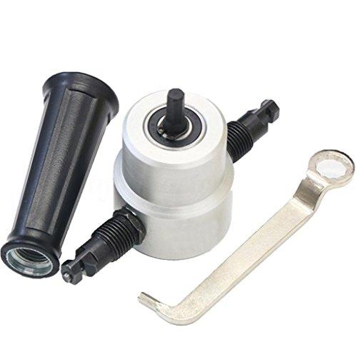 Double Head Sheet Nibbler Metal Cutter Bolayu Gray Black Drill Attachment Black 1