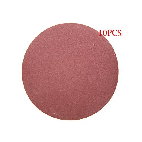 JRL 10 Pcs 4 inch 100mm 240 Grit Sander Disc Sanding Polishing Pad Sandpaper Disc