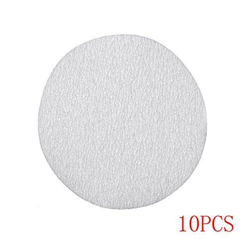 JRL 10 Pcs 4 inch 100mm 60 Grit Sander Disc Sanding Polishing Pad Sandpaper Disc