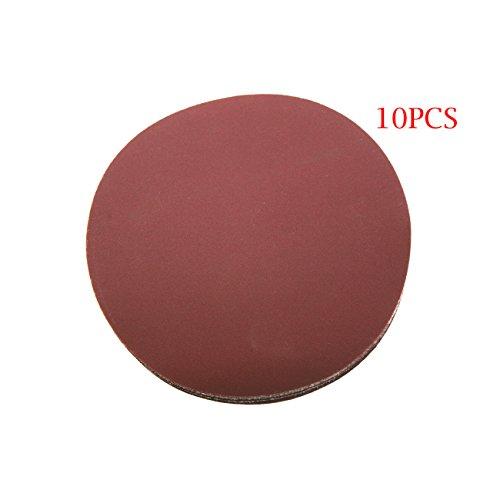 JRL 10 Pcs 5 inch 125mm 400 Grit Sander Disc Sanding Polishing Pad Sandpaper Disc