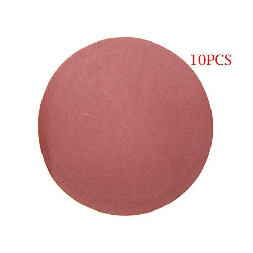 JRL 10 Pcs 5 inch 125mm 800 Grit Sander Disc Sanding Polishing Pad Sandpaper Disc