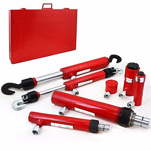 Generic Ram Hydrau Collision Body Hydraulic Auto Repair 7PC Ram 7PC Ram Hydraulic Collisio Kit w Case Set w Case Set Vehicle Frame Tool w Case Set