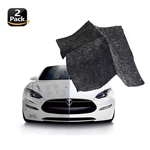 2 Pack Multipurpose Scratch Remover Cloth - Nano Car Paint Scratch Scuffs Repair Cloth - Car Scratch Repair Kit for Repairing Light Paint Scratches Remover Scuffs on Surface and Strong Decontamin