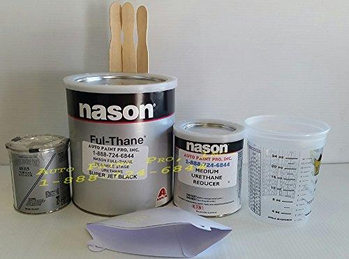 Nason Ful Thane Super Jet Black Single Stage Urethane auto Restoration car Paint kit