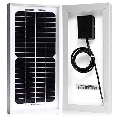 ACOPOWER 5 Watt 5W Monocrystalline Mono Solar Panel for 12 Volt Battery Charging Off Grid