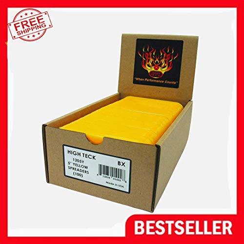 High Teck 1205Y 5 Inch Yellow Body Plastic Filler Bondo Spreaders 100 Per Box
