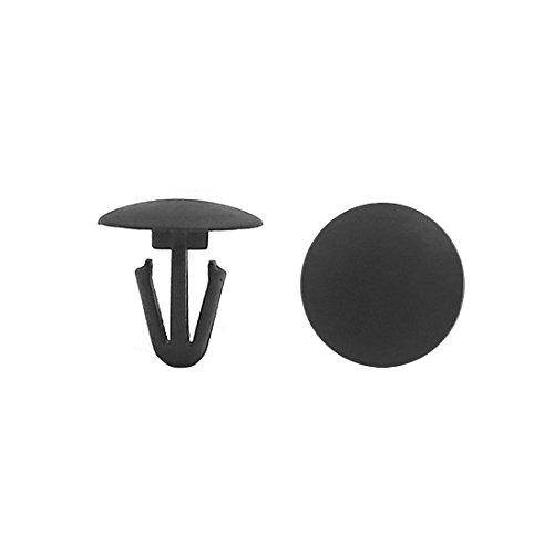 uxcell Black Car Door Trim Panel Hood Plastic Rivet Fasteners Clips 6mm Hole Dia 100pcs
