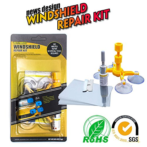 Windshield Repair Tool Do it Yourself Windshield Repair Kit Wind Glass For Chip CrackBullls-Eyes and Stars 1 Repair Kit