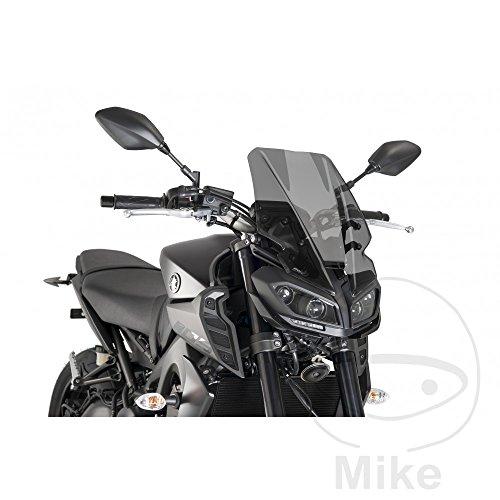 Puig Touring Windscreen Dark Smoke for 17 Yamaha FZ-09
