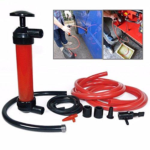 Manual Car Siphon Pump Pipe Oil Extractor Gas Liquid Water Change Transfer Hand Air Pumps