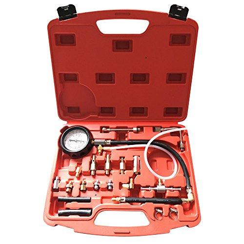 0-140PSI Fuel Injector Injection Pump Pressure Tester Test Gauge Kit Car Tools