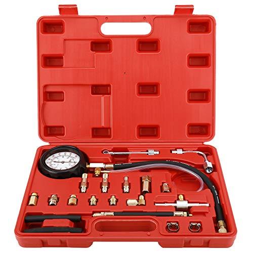 8MILELAKE 0-140PSI Fuel Injector Injection Pump Pressure Tester Gauge Kit