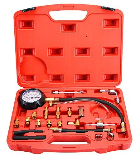 DASBET 0-140PSI Fuel Injector Injection Pump Pressure Tester Gauge Kit Car Tools