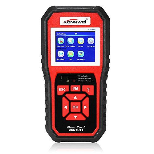 ZEEPIN OBD II Auto Code Scanner KW850 Universal Automotive Diagnostic Vehicle Engine Scan Tool Light Fault Codes Readers