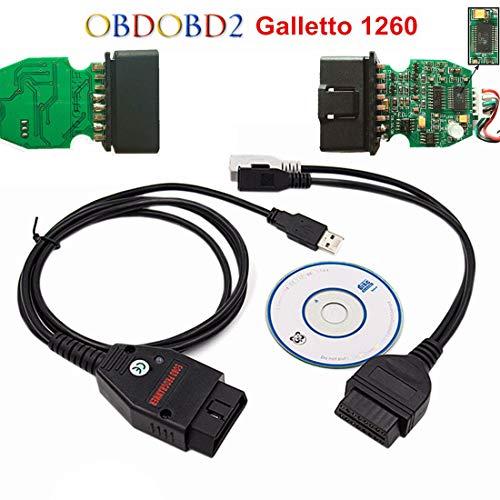 UAUS EOBD OBD2 Galletto 1260 ECU Chip Tuning Interface Car Programme Diagnostic Cable