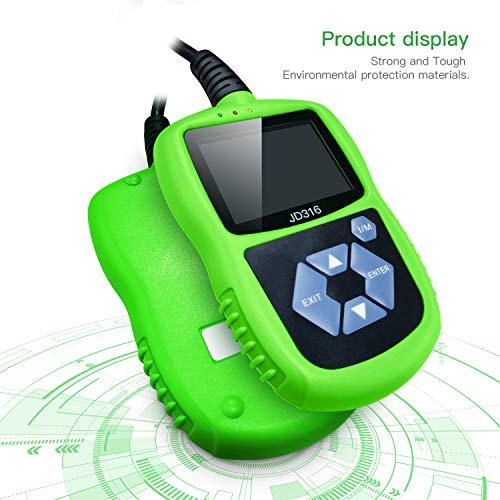 WUAZ OBD2EOBD Scanner Code Reader Portable Car Diagnostic Scanner Engine False Code Scan Tool for Most Vehicles Since 1996
